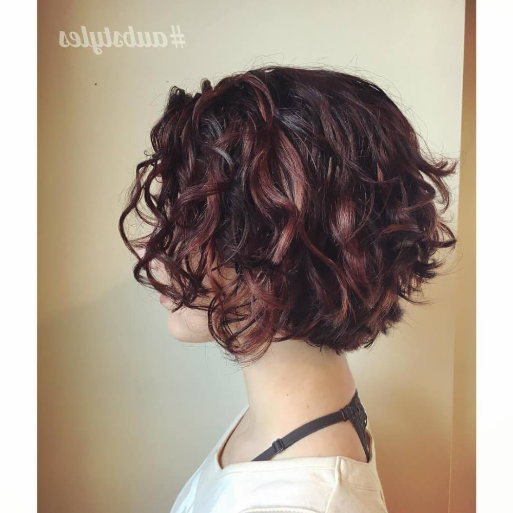 33 Hottest Short Curly Hairstyles Trending In 2018 For Scrunched Curly Brunette Bob Hairstyles (View 6 of 20)