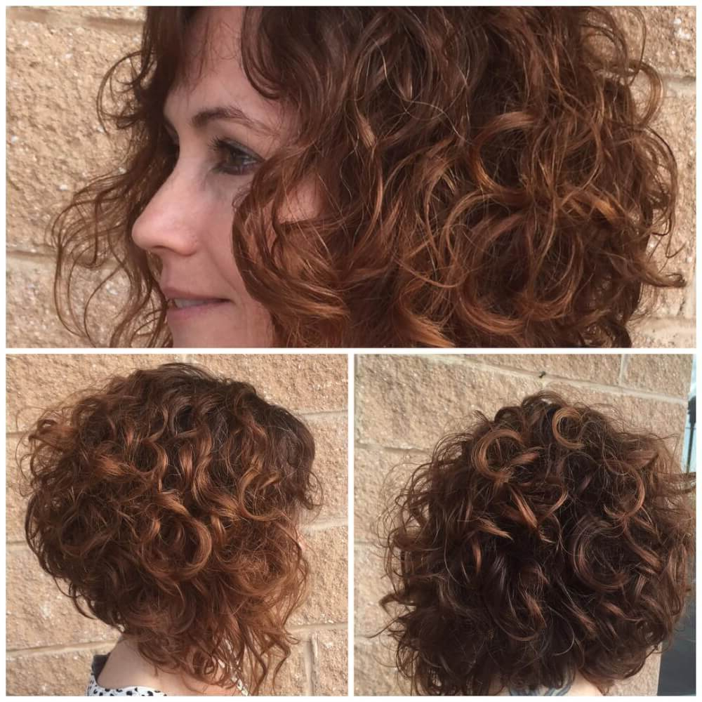 33 Hottest Short Curly Hairstyles Trending In 2018 Intended For Inverted Brunette Bob Hairstyles With Messy Curls (View 7 of 20)