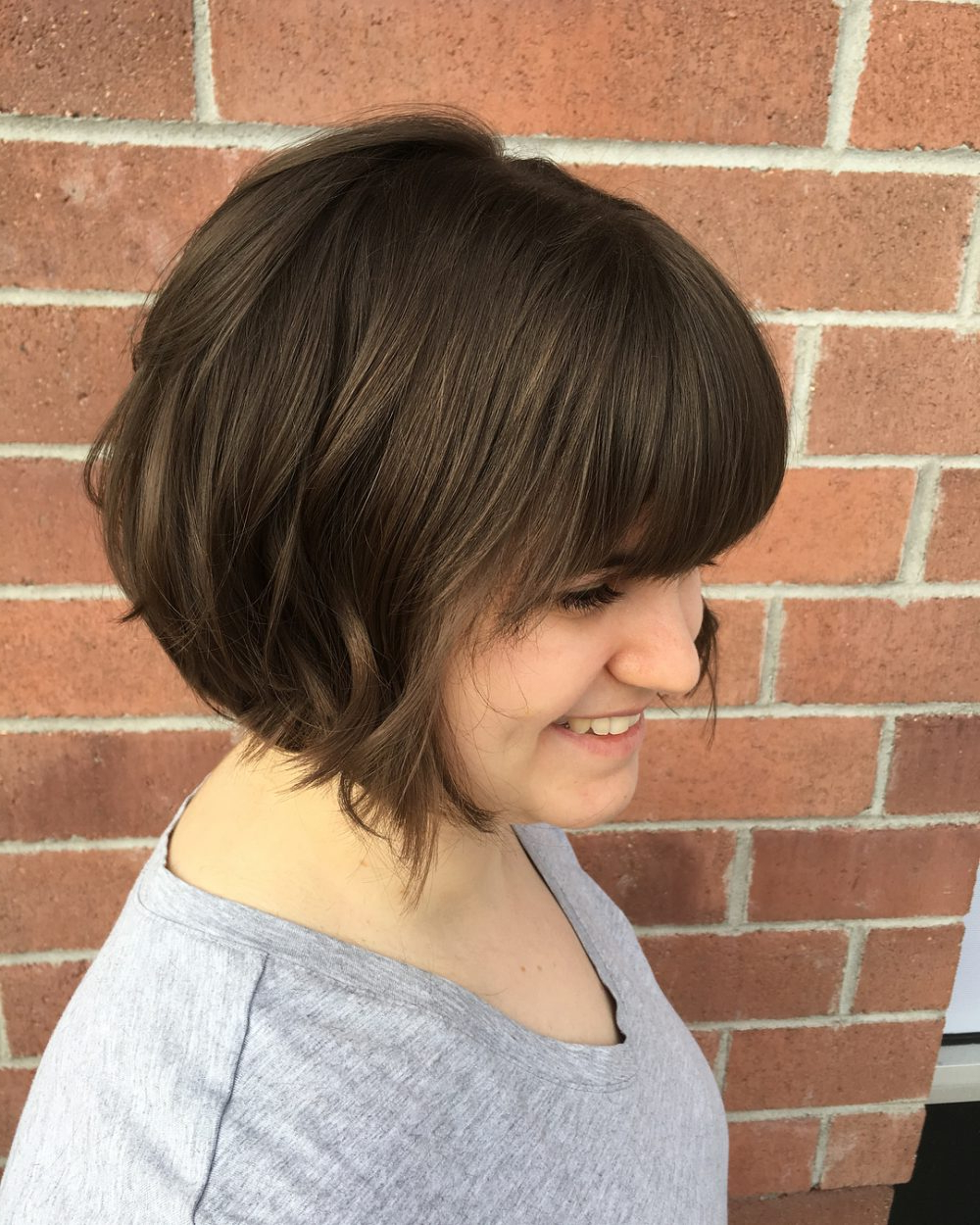 34 Greatest Short Haircuts And Hairstyles For Thick Hair For 2018 With Layered Pixie Hairstyles With An Edgy Fringe (View 9 of 20)