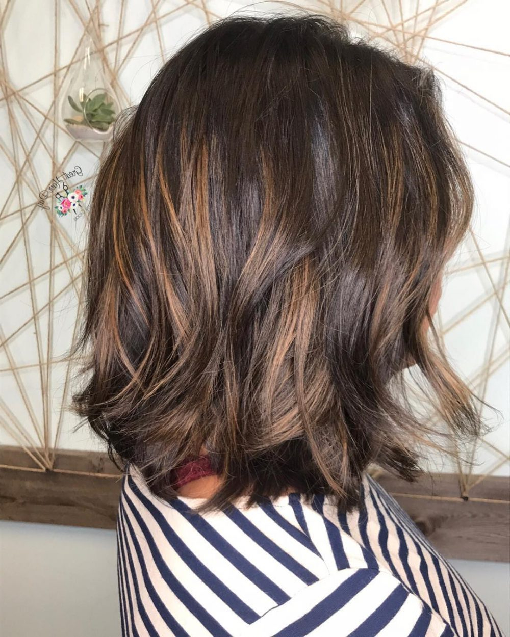 34 Sweetest Caramel Highlights On Light To Dark Brown Hair (2018) Within Curly Dark Brown Bob Hairstyles With Partial Balayage (View 9 of 20)