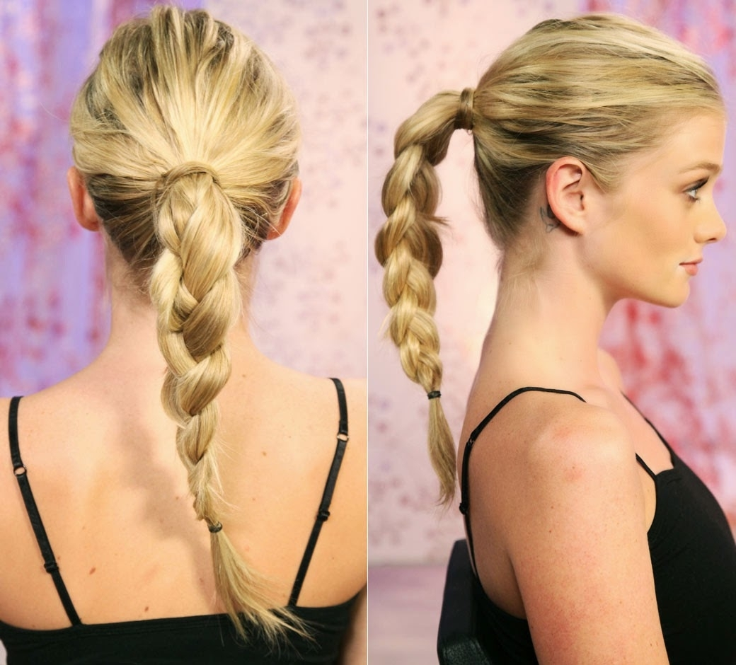 4 Amazing Ponytail Hairstyles For Beautiful Girls ~ Celebrity Hairstyle Intended For 2018 Fancy Updo With A Side Ponytails (View 4 of 20)