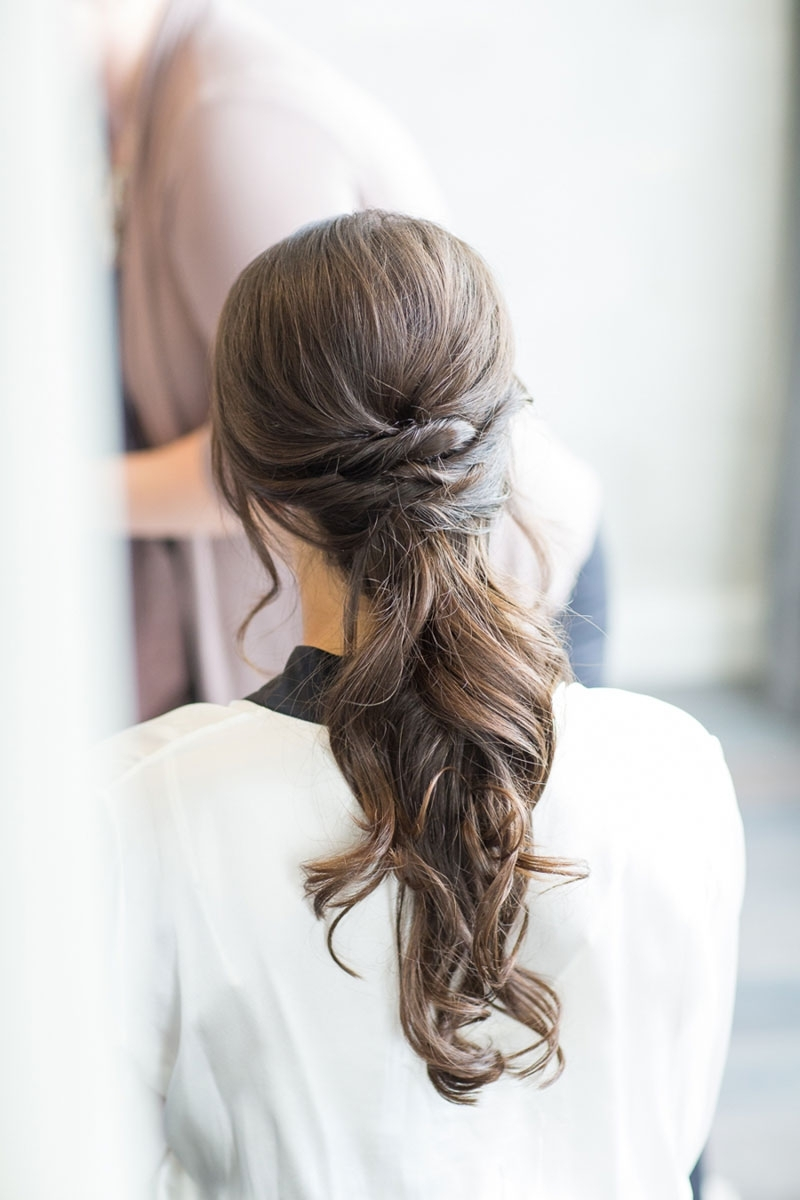 4 Elegant Ponytail Hairstyles To Complete Your Bridal Look (View 3 of 20)