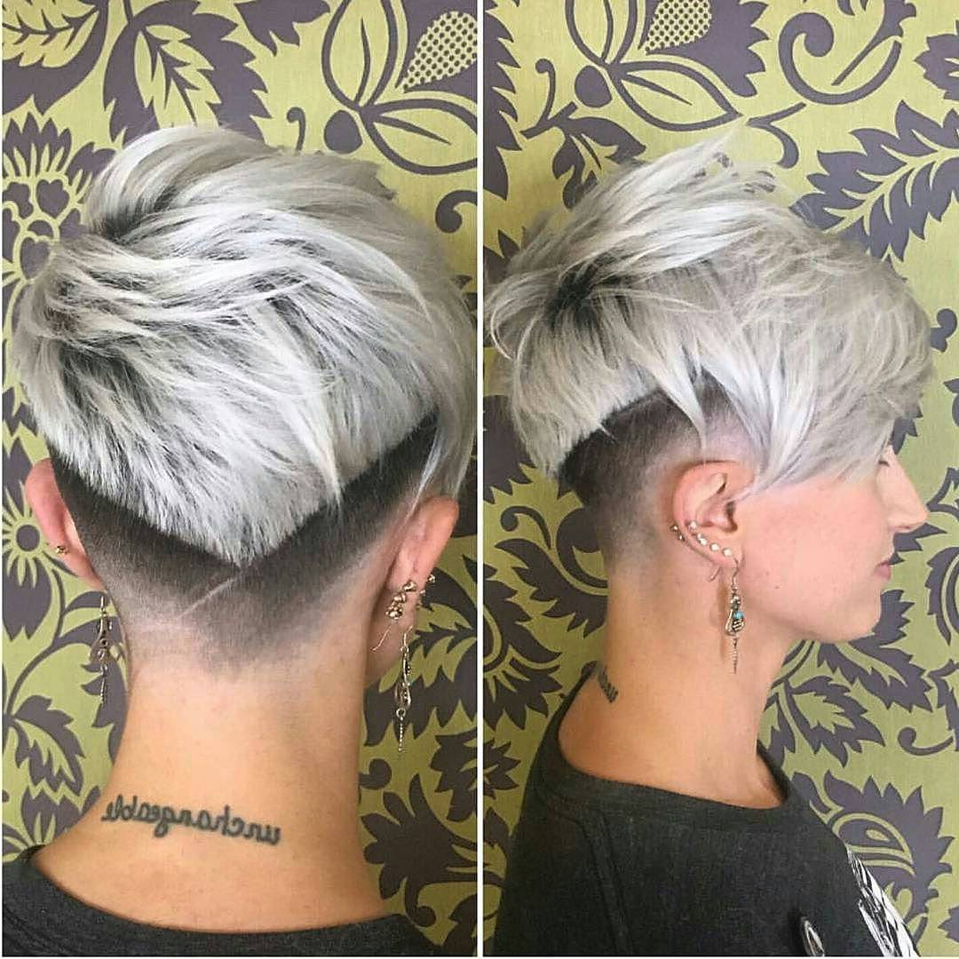 40 Best Short Hairstyles For Fine Hair 2018: Short Haircuts For Women Pertaining To Elongated Choppy Pixie Haircuts With Tapered Back (View 8 of 20)