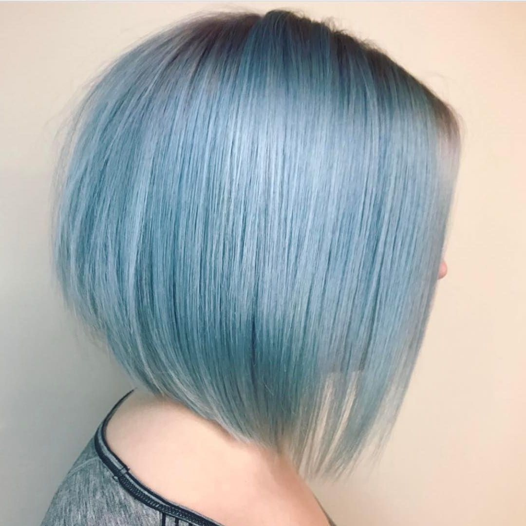 40 Best Short Hairstyles For Fine Hair 2019 Inside Blue Balayage For Black Choppy Bob Hairstyles (View 17 of 20)