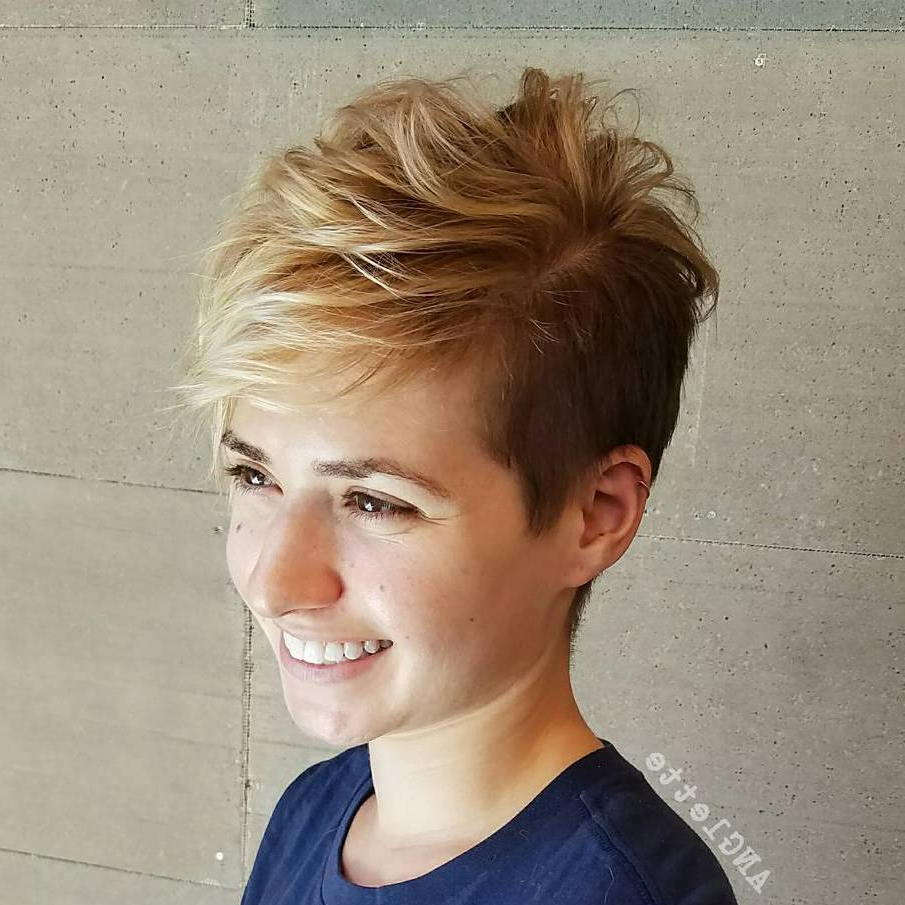 40 Bold And Gorgeous Asymmetrical Pixie Cuts With Disheveled Blonde Pixie Haircuts With Elongated Bangs (View 7 of 20)