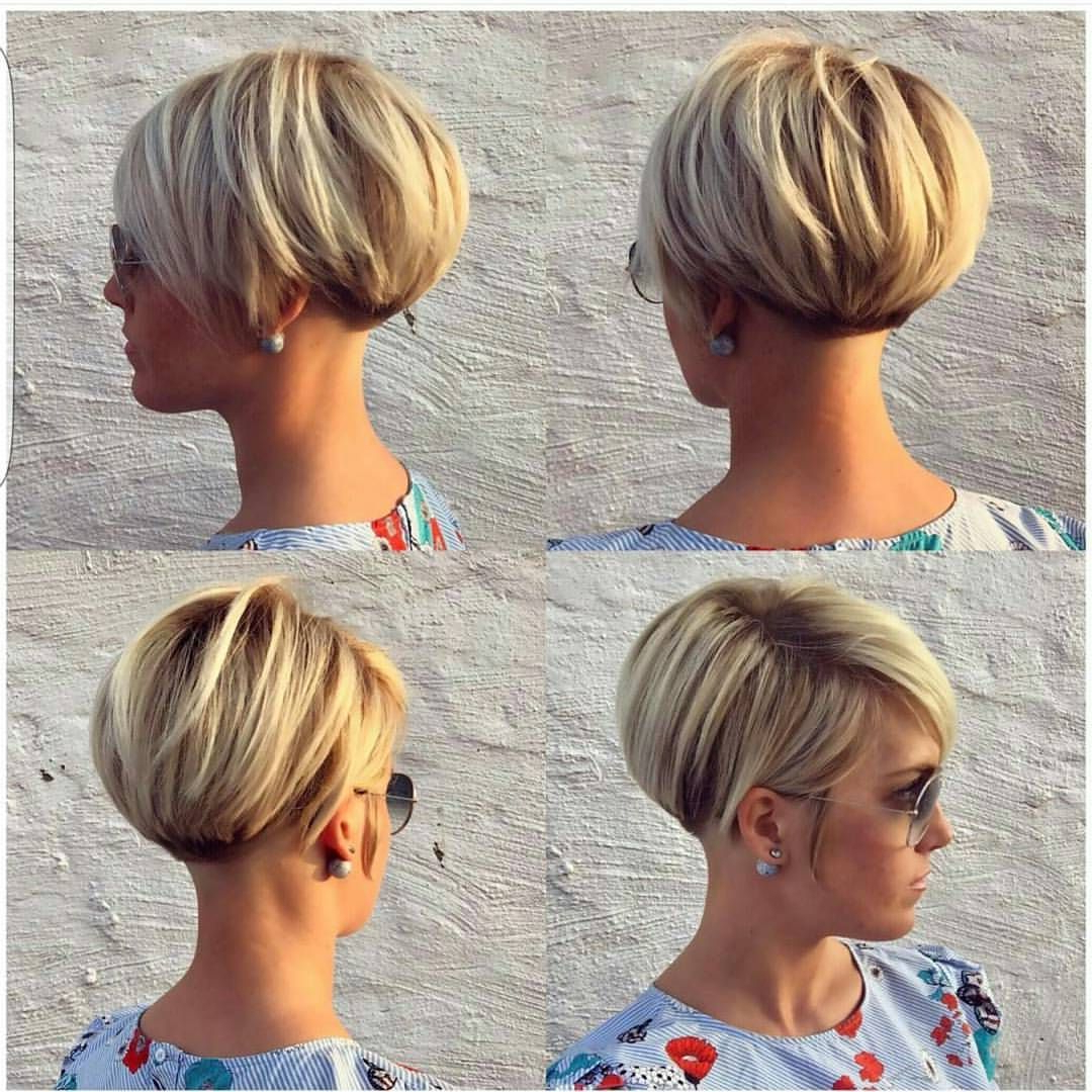40 Most Flattering Bob Hairstyles For Round Faces 2019 – Hairstyles Throughout Rounded Pixie Bob Haircuts With Blonde Balayage (View 10 of 20)