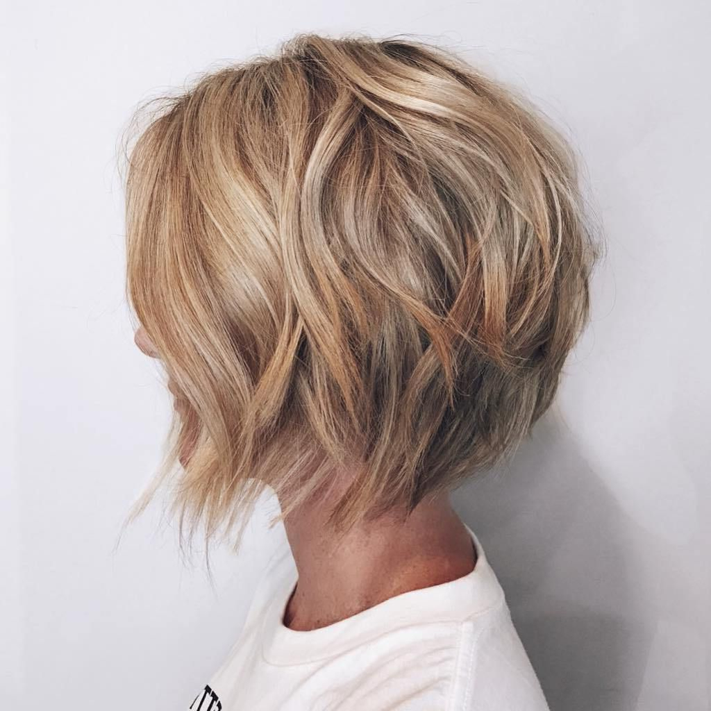 40 Short Shag Hairstyles That You Simply Can't Miss | Blonde Layers Regarding Hazel Blonde Razored Bob Hairstyles (View 6 of 20)