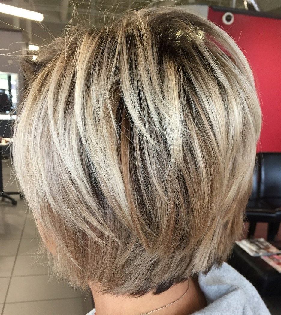 40 Short Shag Hairstyles That You Simply Can't Miss | Blonde Pertaining To Layered Balayage Bob Hairstyles (View 6 of 20)