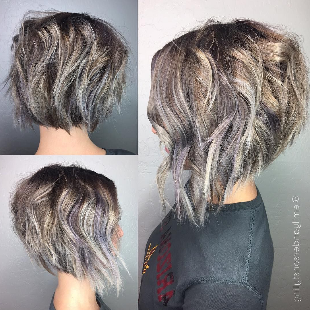 40 Super Cute Short Bob Hairstyles For Women 2018 | Styles Weekly With Inverted Brunette Bob Hairstyles With Feathered Highlights (Gallery 17 of 20)