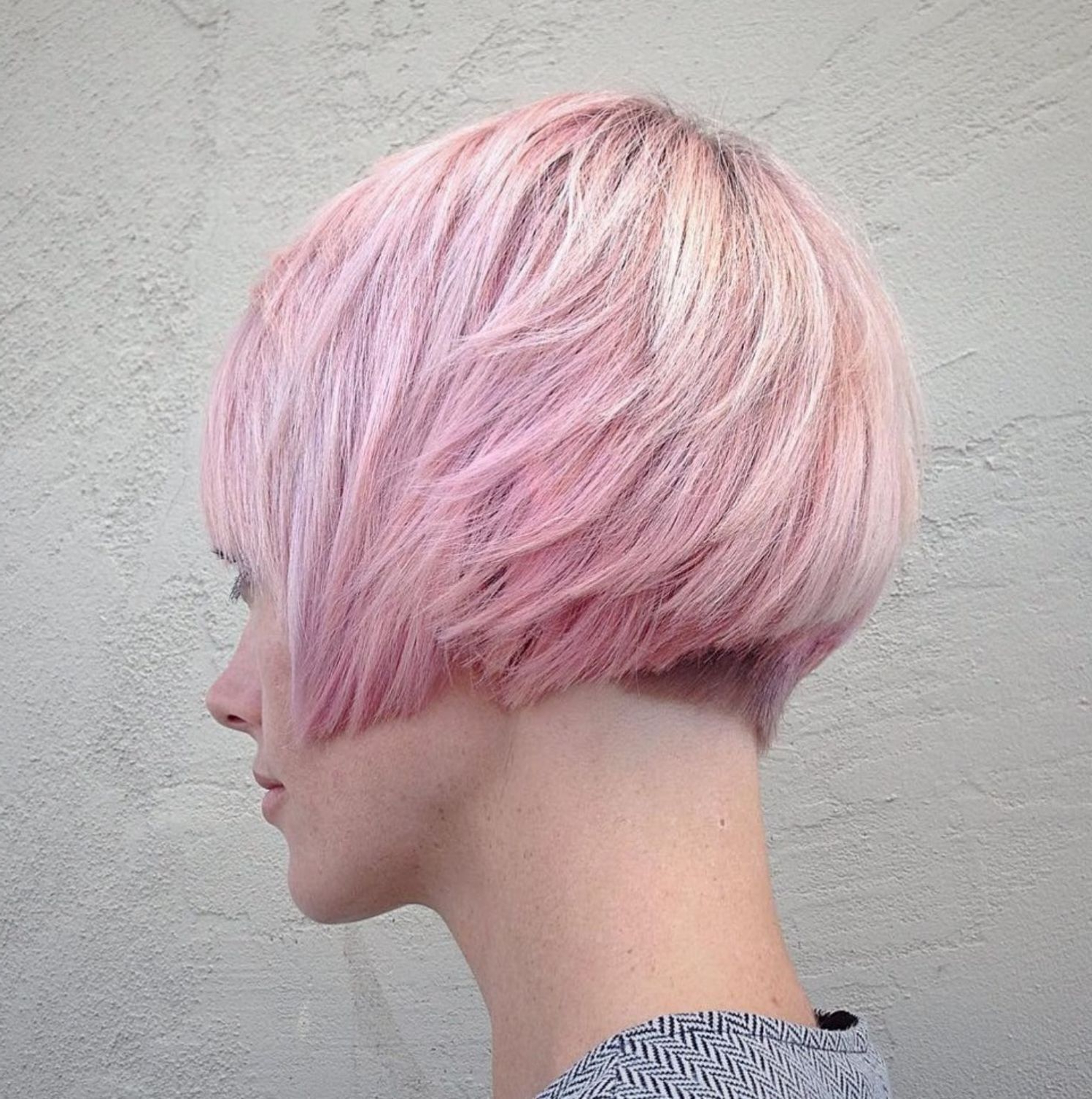 43 Graduated Bob Hairstyles Ideas You Should Try Right Now Regarding Pastel Pink Textured Pixie Hairstyles (View 16 of 20)