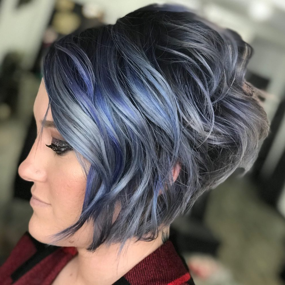 43 Greatest Wavy Bob Hairstyles – Short, Medium And Long In 2018 In Stacked Black Bobhairstyles With Cherry Balayage (View 13 of 20)