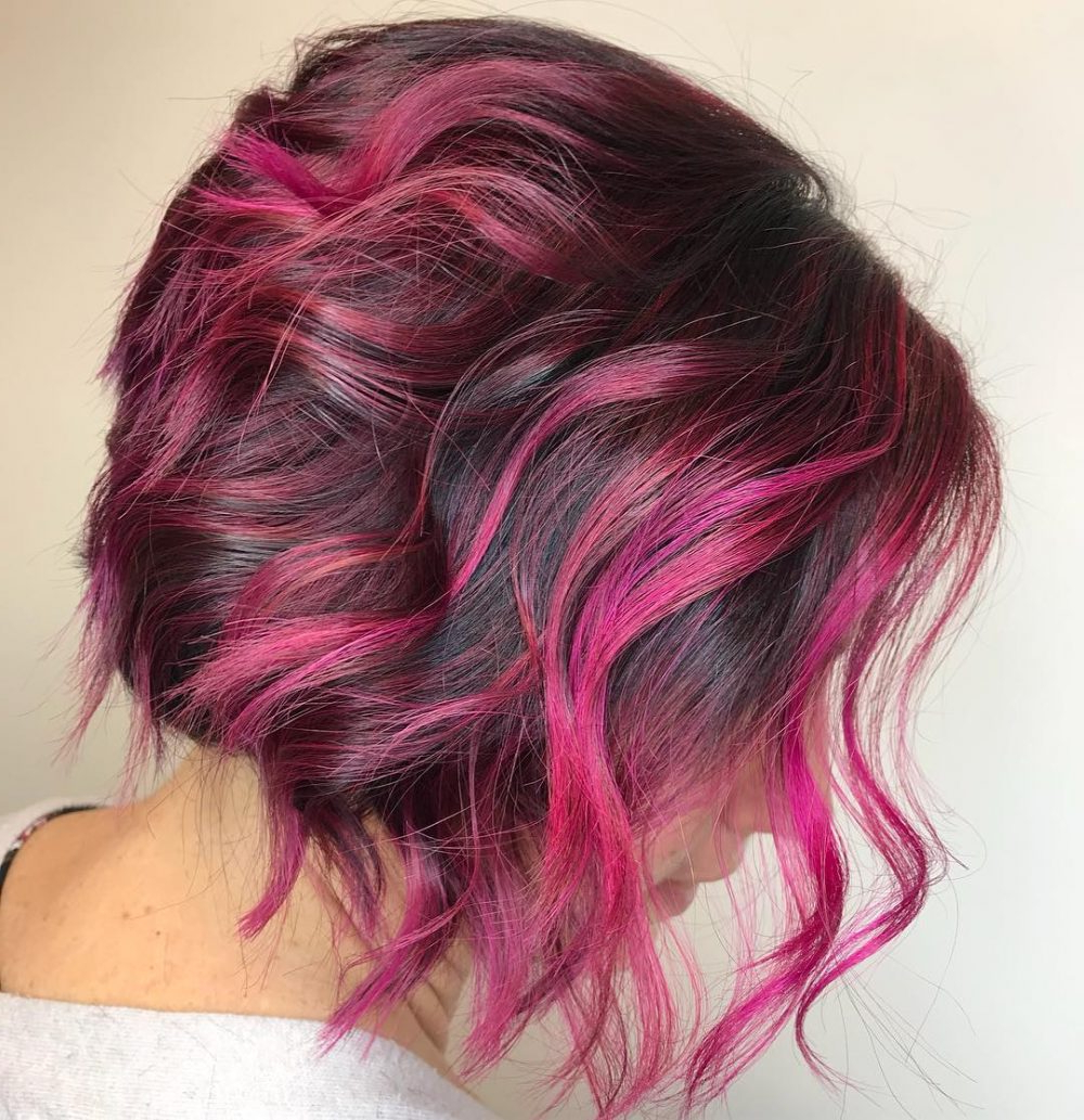 43 Greatest Wavy Bob Hairstyles – Short, Medium And Long In 2018 Inside Stacked Black Bobhairstyles  With Cherry Balayage (Gallery 15 of 20)