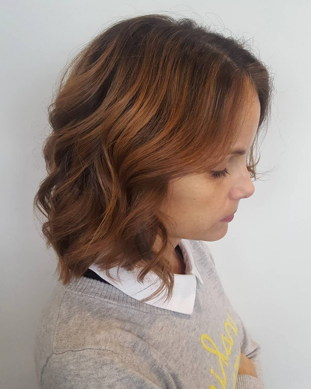 43 Greatest Wavy Bob Hairstyles – Short, Medium And Long In 2018 With Regard To Loosely Waved Messy Brunette Bob Hairstyles (View 9 of 20)