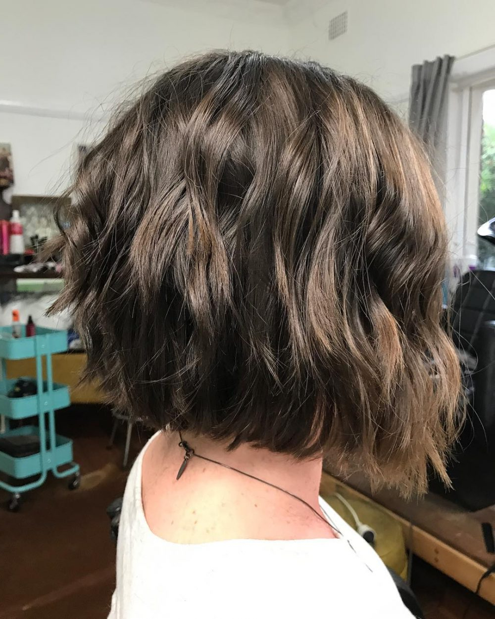 45 Chic Choppy Bob Hairstyles For 2018 Intended For Disheveled Brunette Choppy Bob Hairstyles (View 5 of 20)