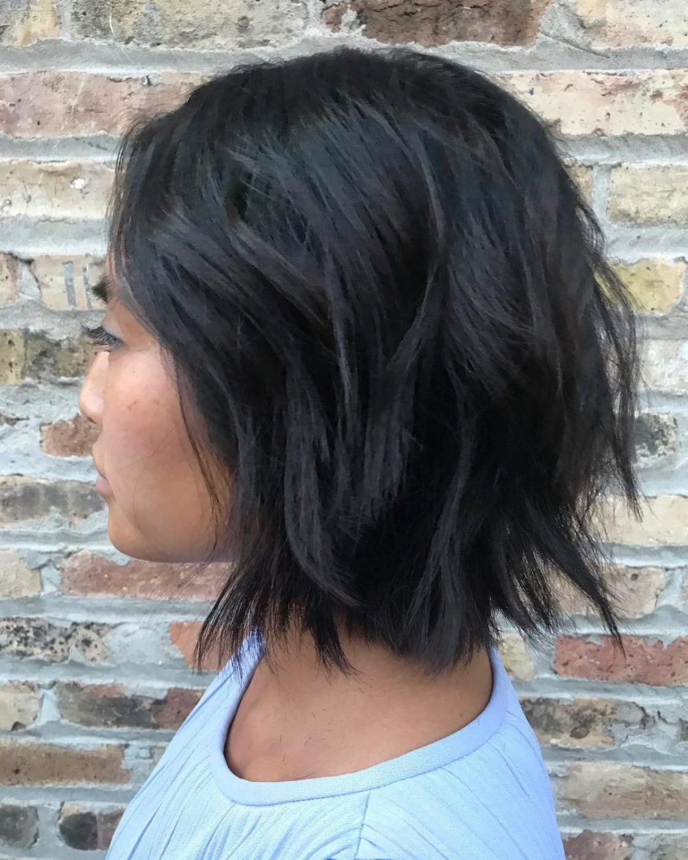 45 Chic Choppy Bob Hairstyles For 2018 Within Blue Balayage For Black Choppy Bob Hairstyles (View 18 of 20)