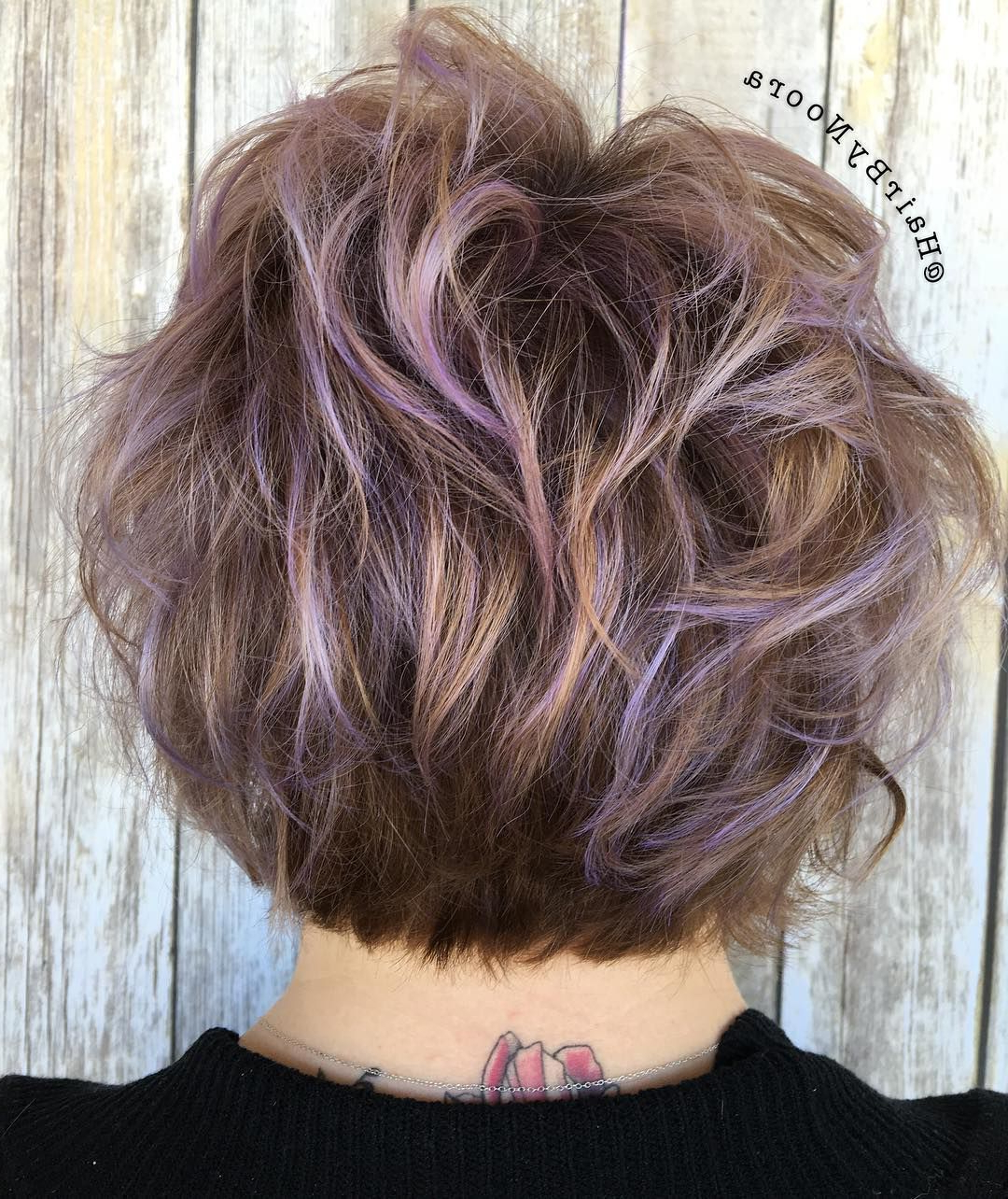 45 Ideas For Light Brown Hair With Highlights And Lowlights Intended For Choppy Brown And Lavender Bob Hairstyles (View 13 of 20)