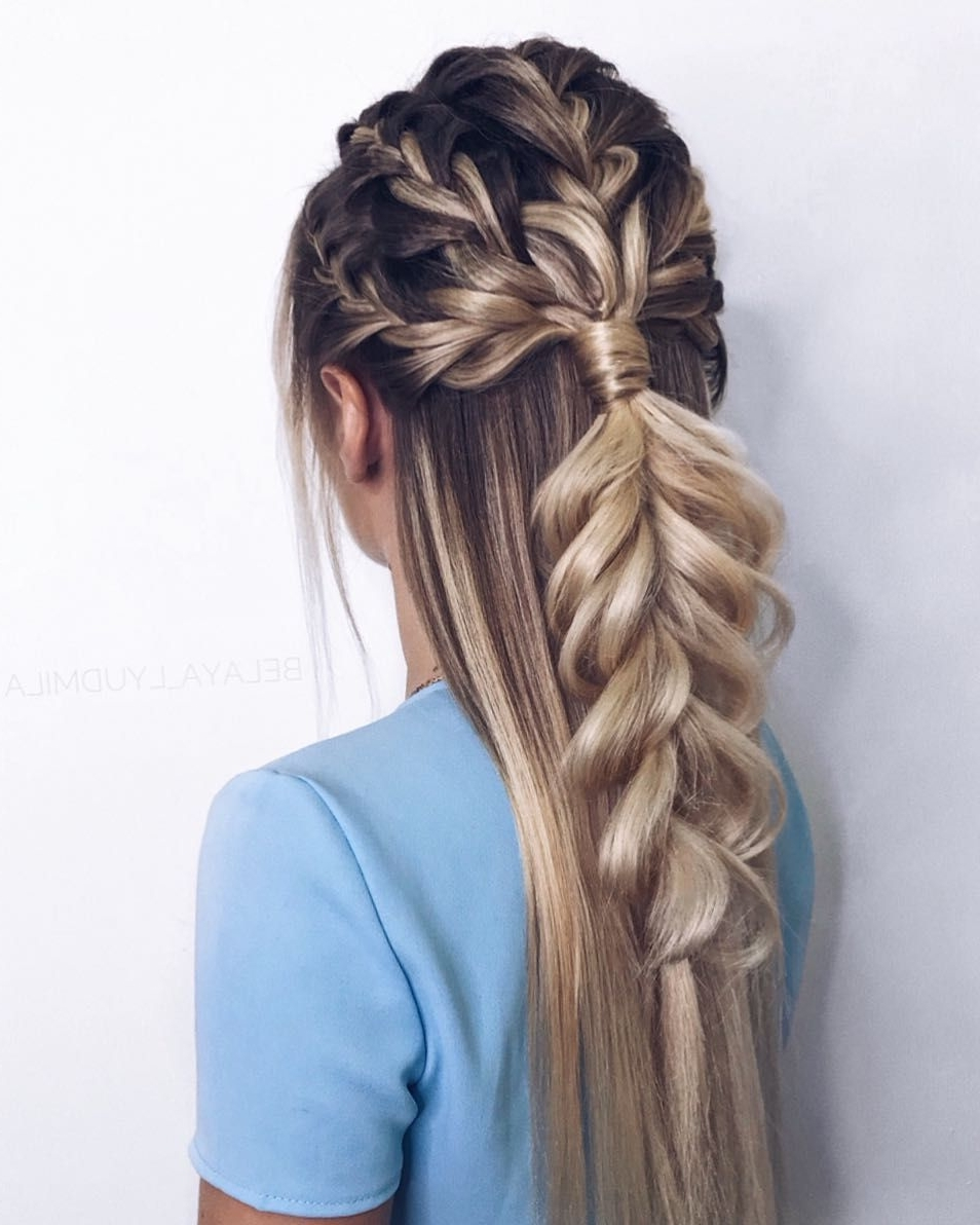 47 Braided Hairstyle Inspiration , Braids ,hairstyles ,braided Pertaining To Widely Used Twin Braid Updo Ponytail Hairstyles (View 6 of 20)