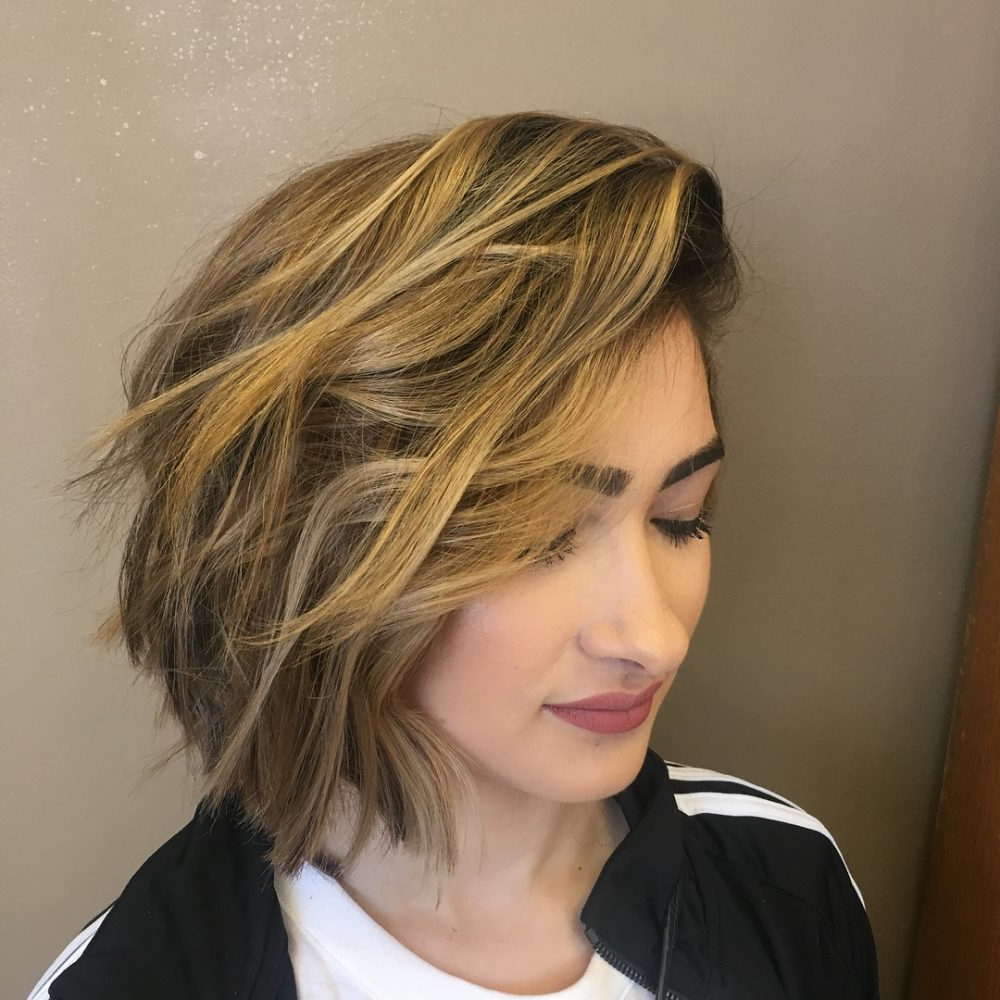 47 Popular Short Choppy Hairstyles For 2018 Regarding Tapered Brown Pixie Hairstyles With Ginger Curls (View 6 of 20)