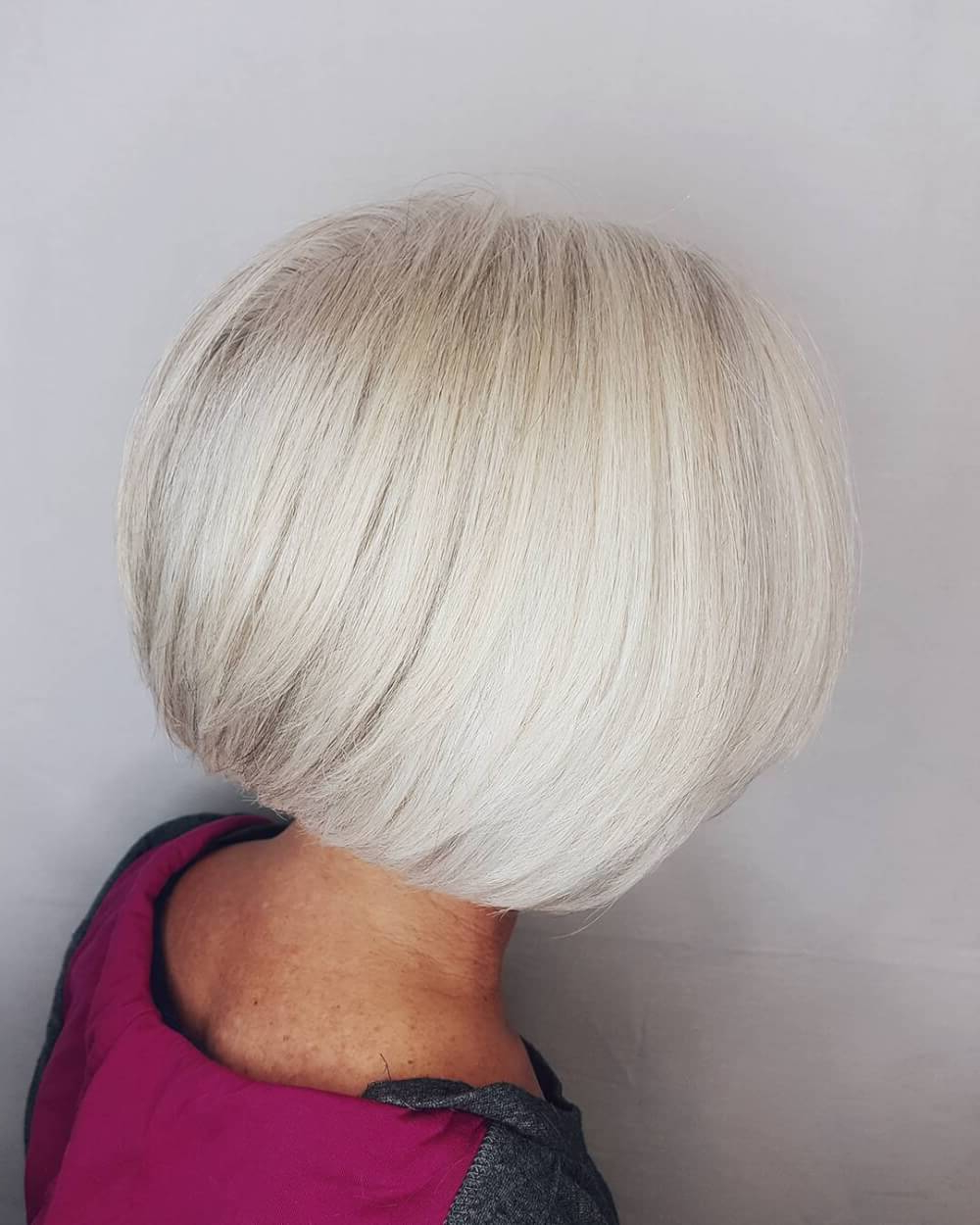49 Chic Short Bob Hairstyles & Haircuts For Women In 2018 Intended For High Shine Sleek Silver Pixie Bob Haircuts (View 8 of 20)