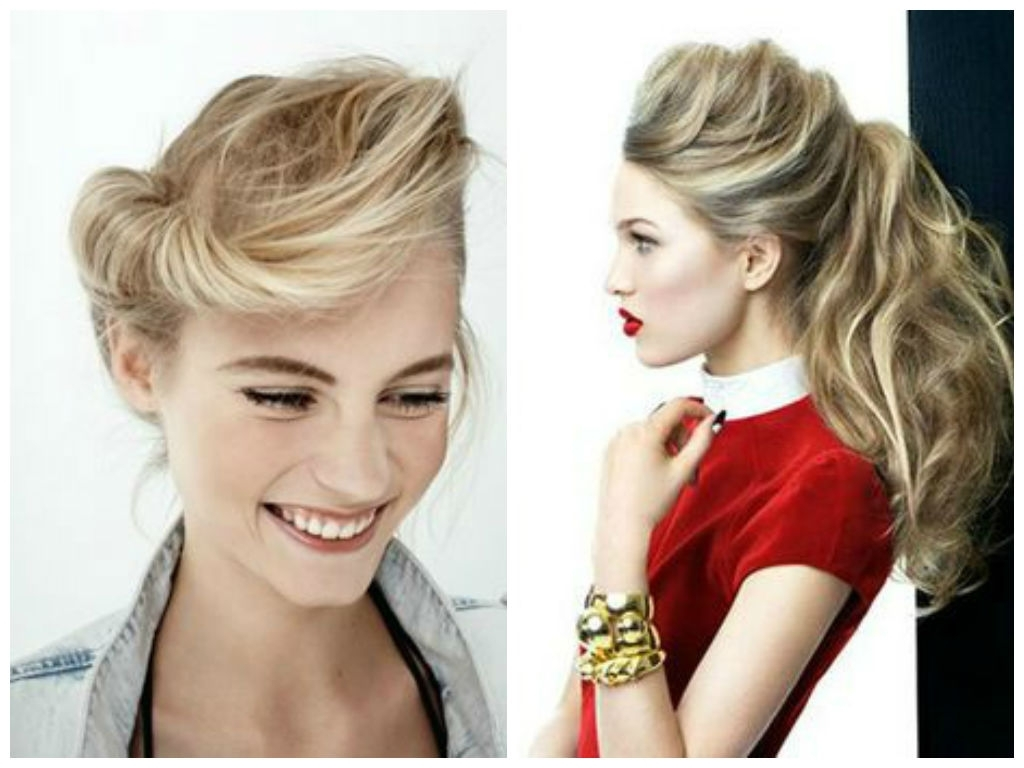 Featured Photo of Messy Blonde Ponytails With Faux Pompadour
