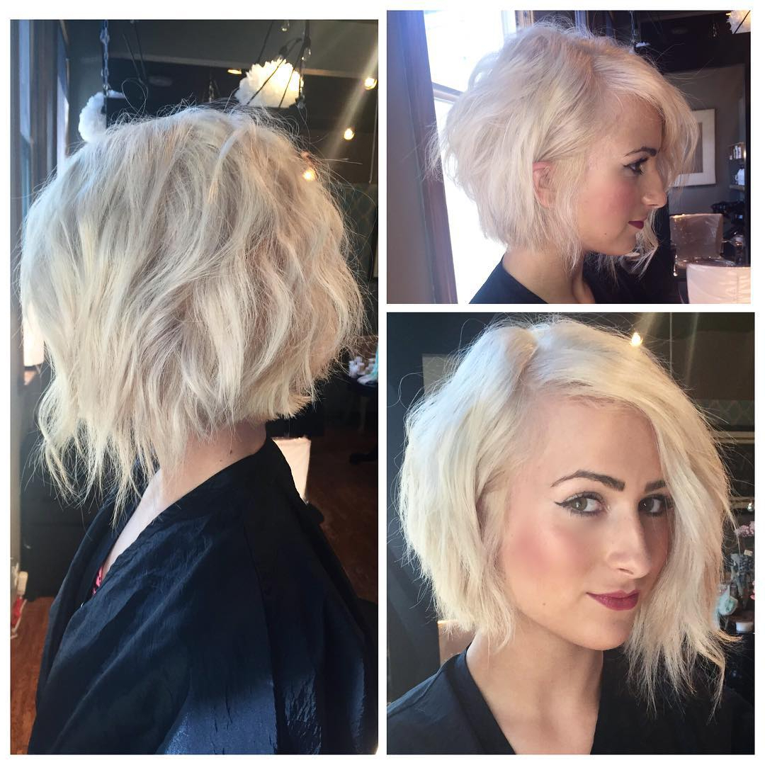50 Adorable Asymmetrical Bob Hairstyles 2018 – Hottest Bob Haircuts In Adorable Wavy Bob Hairstyles (Gallery 11 of 20)