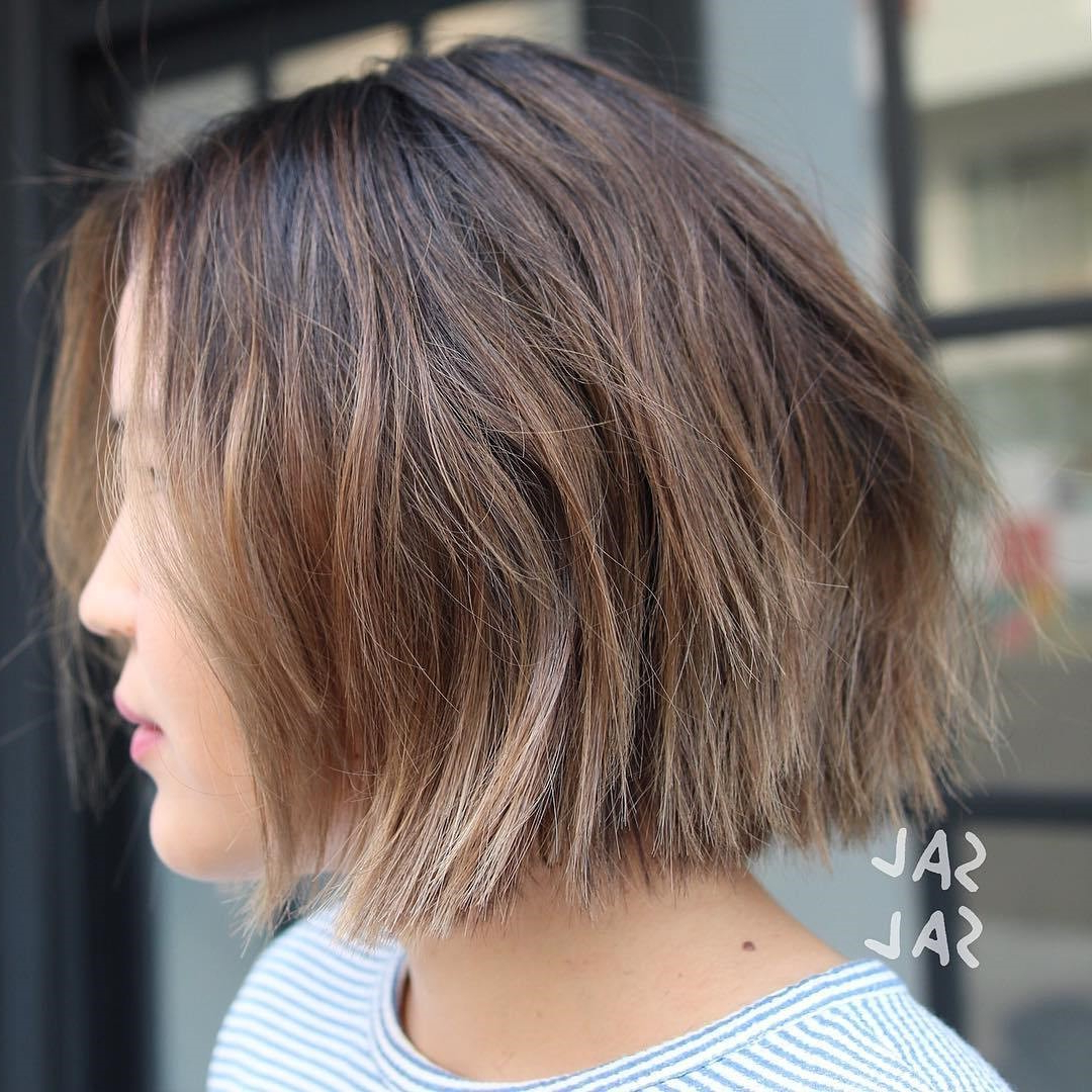 50 Amazing Blunt Bob Hairstyles 2018 – Hottest Mob & Lob Hair Ideas Inside Choppy Brown And Lavender Bob Hairstyles (View 14 of 20)