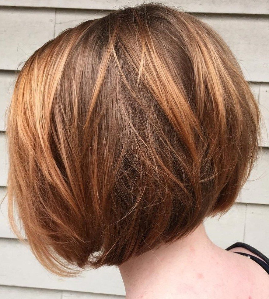 50 Best Short Bob Haircuts And Hairstyles For Women | Caramel Brown For Layered Caramel Brown Bob Hairstyles (View 10 of 20)