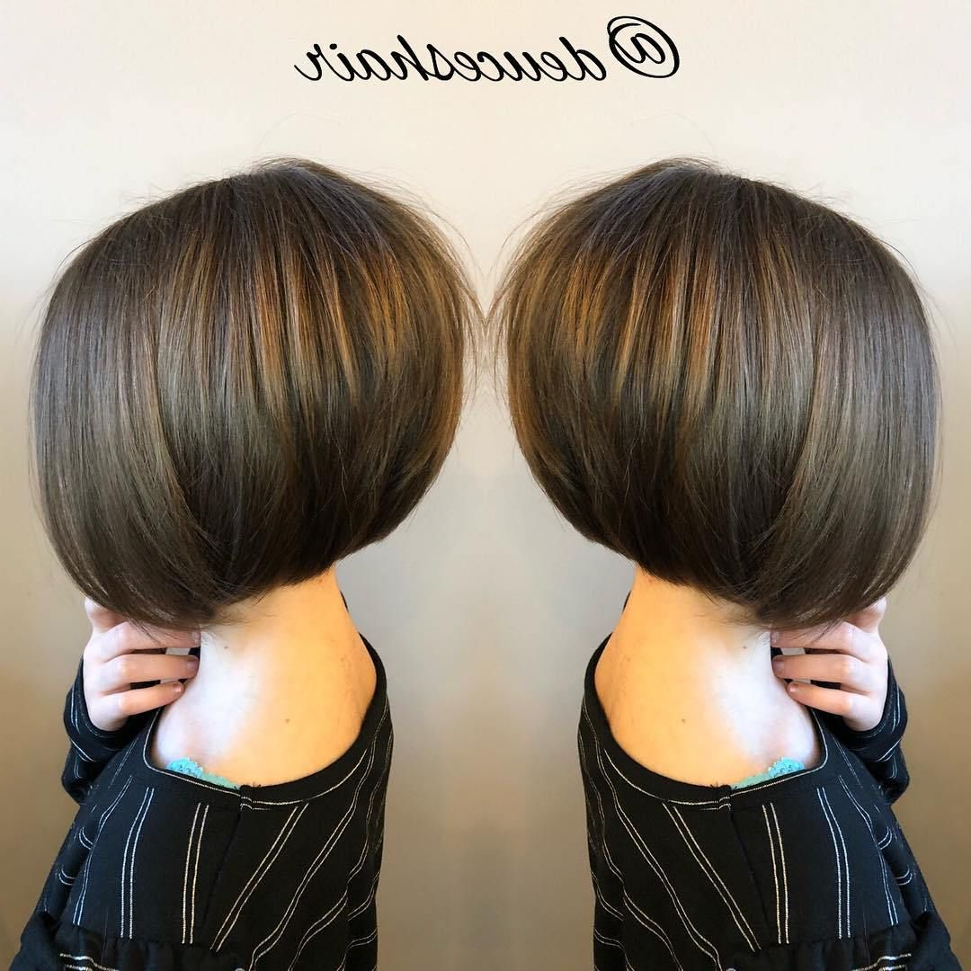 50 Cute Haircuts For Girls To Put You On Center Stage | Hairstyle Regarding Sleek Rounded Inverted Bob Hairstyles (View 9 of 20)