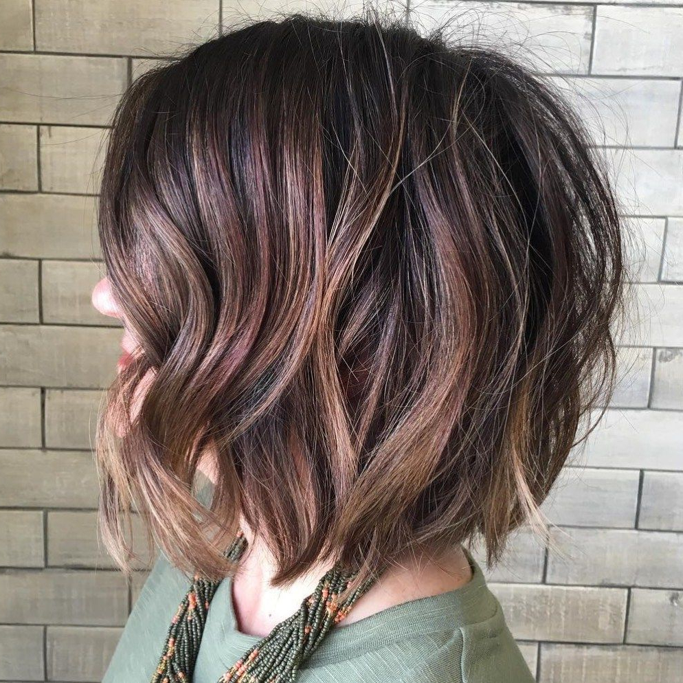 50 Gorgeous Wavy Bob Hairstyles With An Extra Touch Of Femininity Throughout Sexy Tousled Wavy Bob For Brunettes (View 6 of 20)