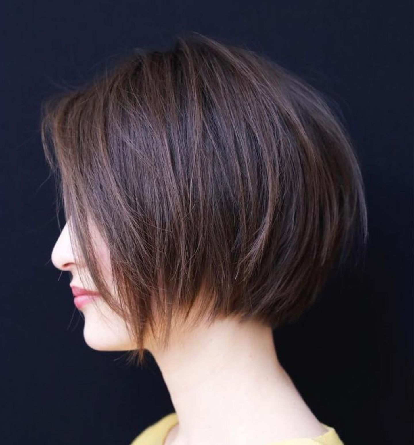 50 Layered Bob Styles: Modern Haircuts With Layers For Any Occasion With Modern Chocolate Bob Haircuts (View 2 of 20)