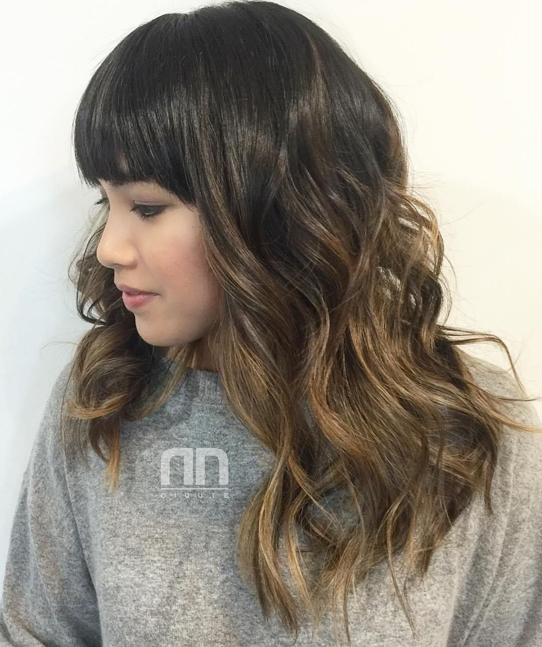 50 Most Magnetizing Hairstyles For Thick Wavy Hair | Brown Ombre With Regard To Golden Brown Thick Curly Bob Hairstyles (View 12 of 20)