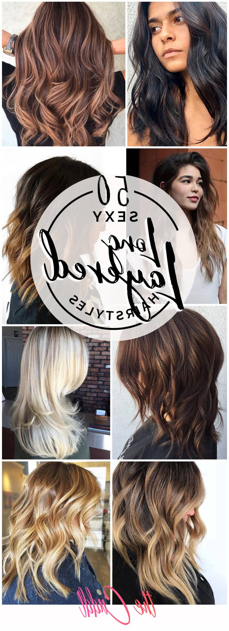 50 Sexy Long Layered Hair Ideas To Create Effortless Style In 2018 Inside Silver Balayage Bob Haircuts With Swoopy Layers (View 17 of 20)
