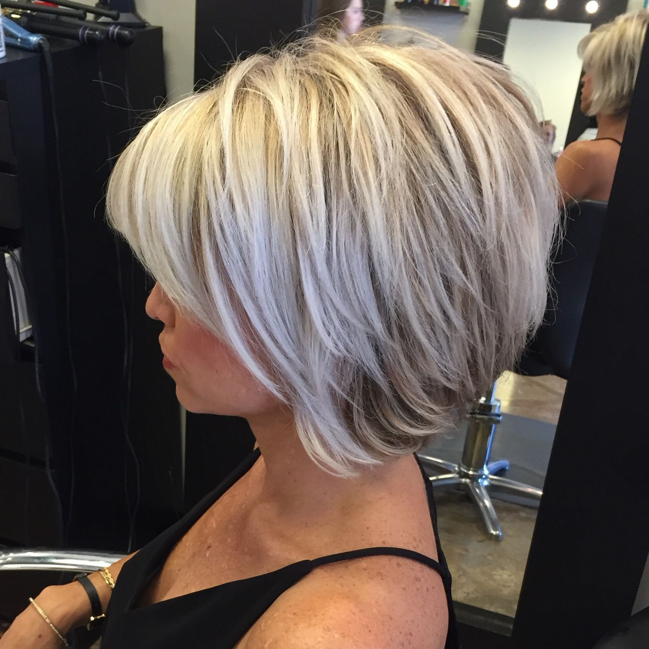50 Short Bob Hairstyles 2015 – 2016 In 2018 | { Hair, Makeup, Nails With Short Bob Hairstyles With Whipped Curls And Babylights (View 6 of 20)