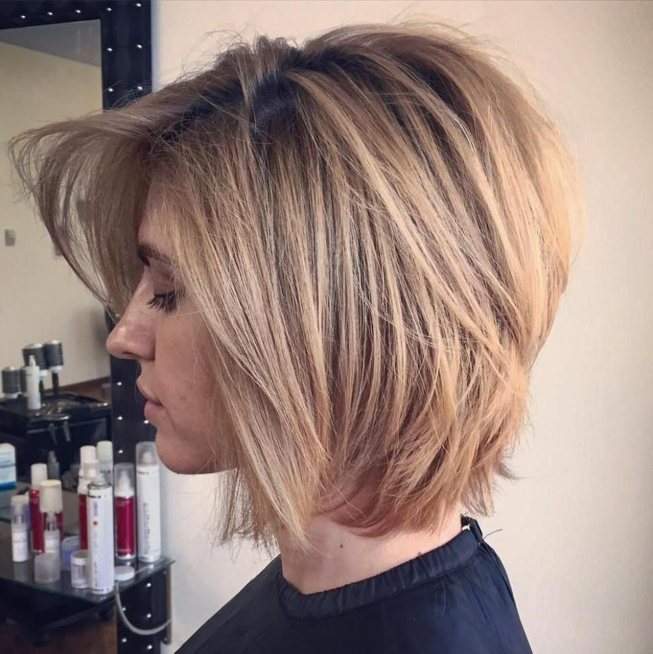 50 Trendiest Short Blonde Hairstyles And Haircuts | Blonde Layers Within Southern Belle Bob Haircuts With Gradual Layers (View 12 of 20)