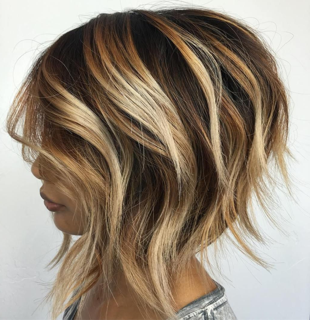 50 Trendy Inverted Bob Haircuts | Bronde Balayage, Balayage And Bobs Regarding Wavy Bronde Bob Shag Haircuts (View 9 of 20)
