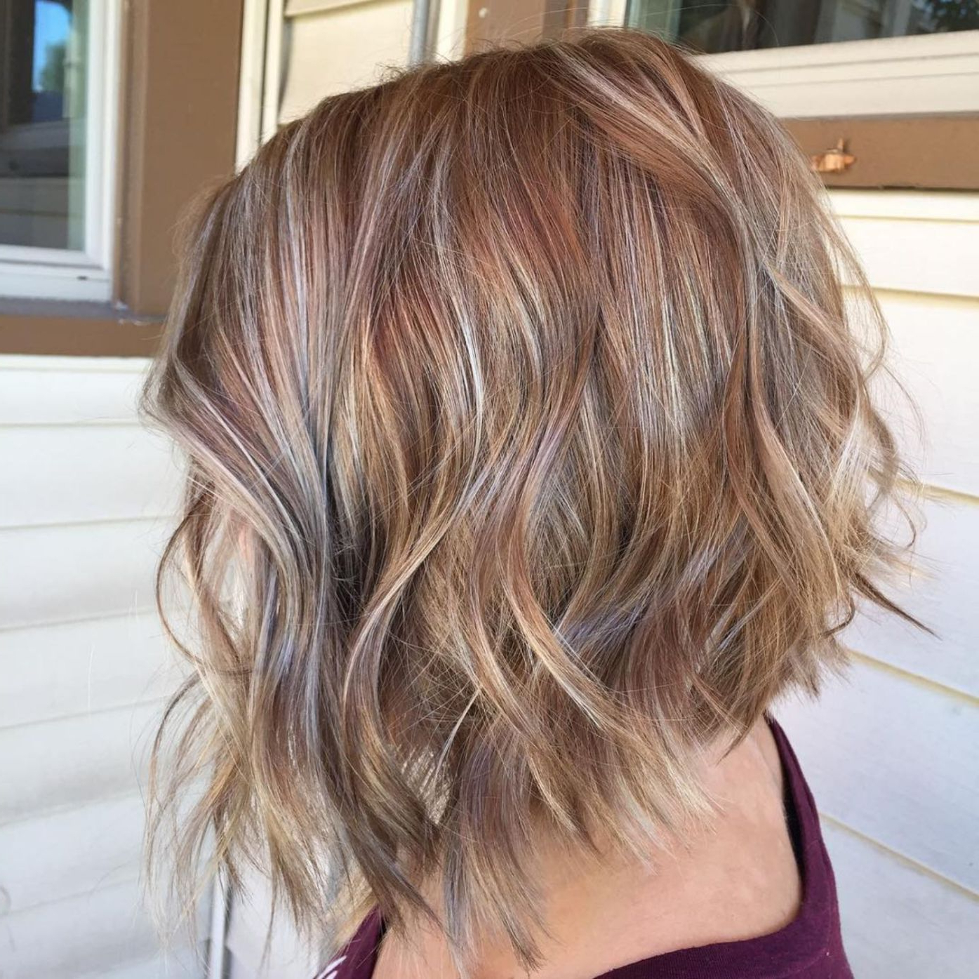 50 Trendy Inverted Bob Haircuts | Colour | Pinterest | Hair, Hair Pertaining To Choppy Wispy Blonde Balayage Bob Hairstyles (View 3 of 20)
