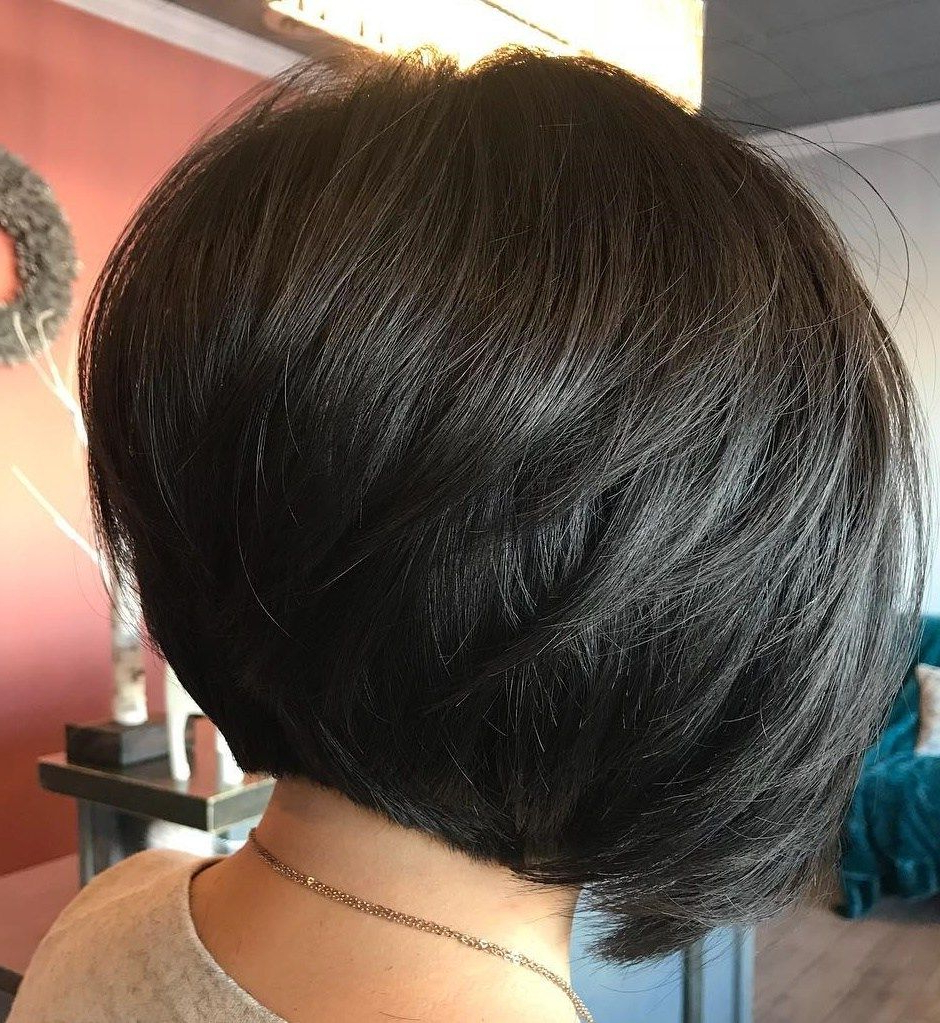 50 Trendy Inverted Bob Haircuts | Hair | Pinterest | Bobs, Layering Intended For Sleek Rounded Inverted Bob Hairstyles (View 2 of 20)