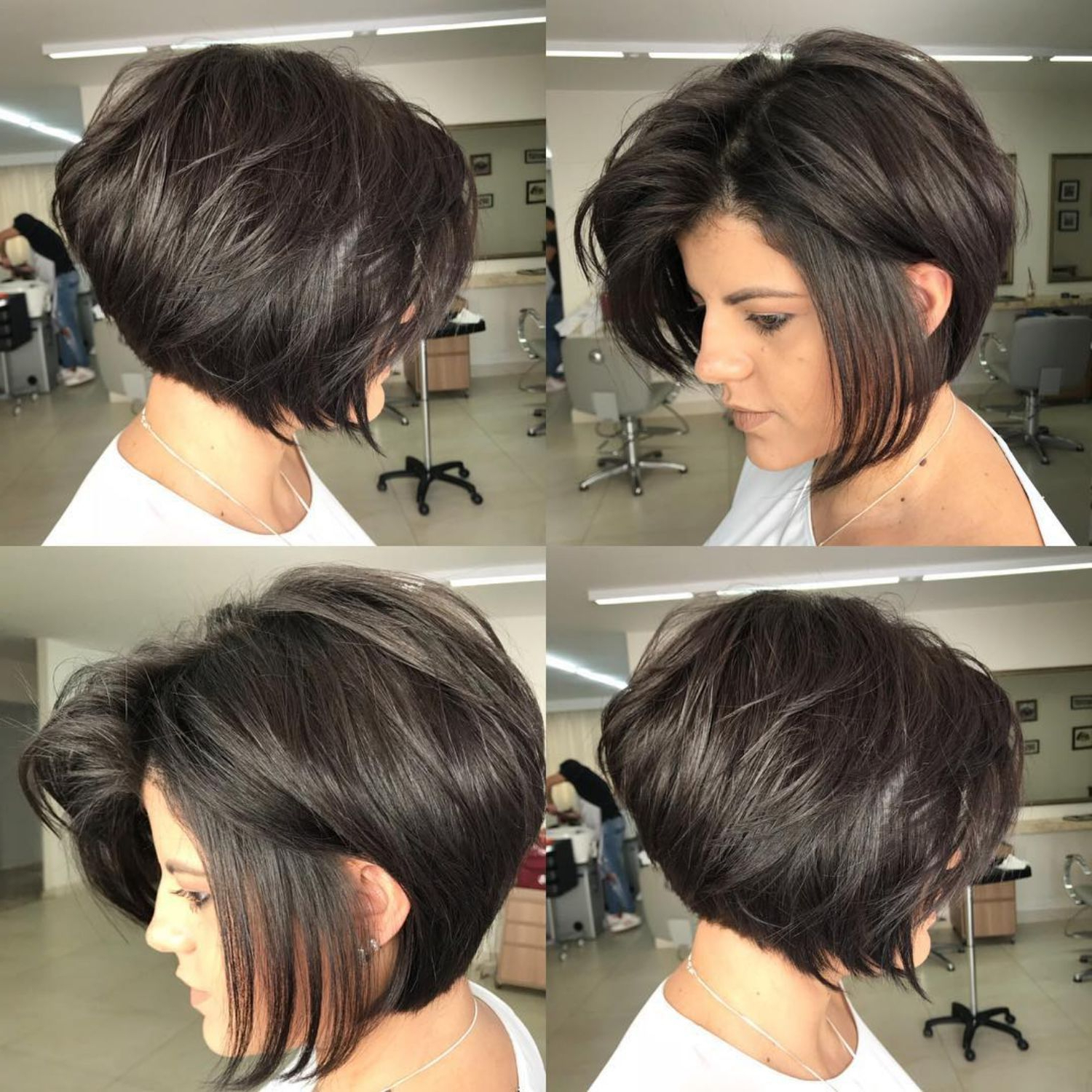 50 Trendy Inverted Bob Haircuts In 2018 | Hair Styles | Pinterest Pertaining To Voluminous Nape Length Inverted Bob Hairstyles (View 14 of 20)