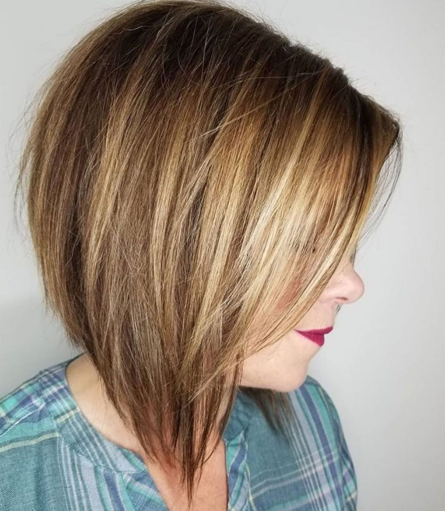 50 Trendy Inverted Bob Haircuts | Medium Hairstyle | Pinterest With Regard To Perfectly Angled Caramel Bob Haircuts (View 11 of 20)