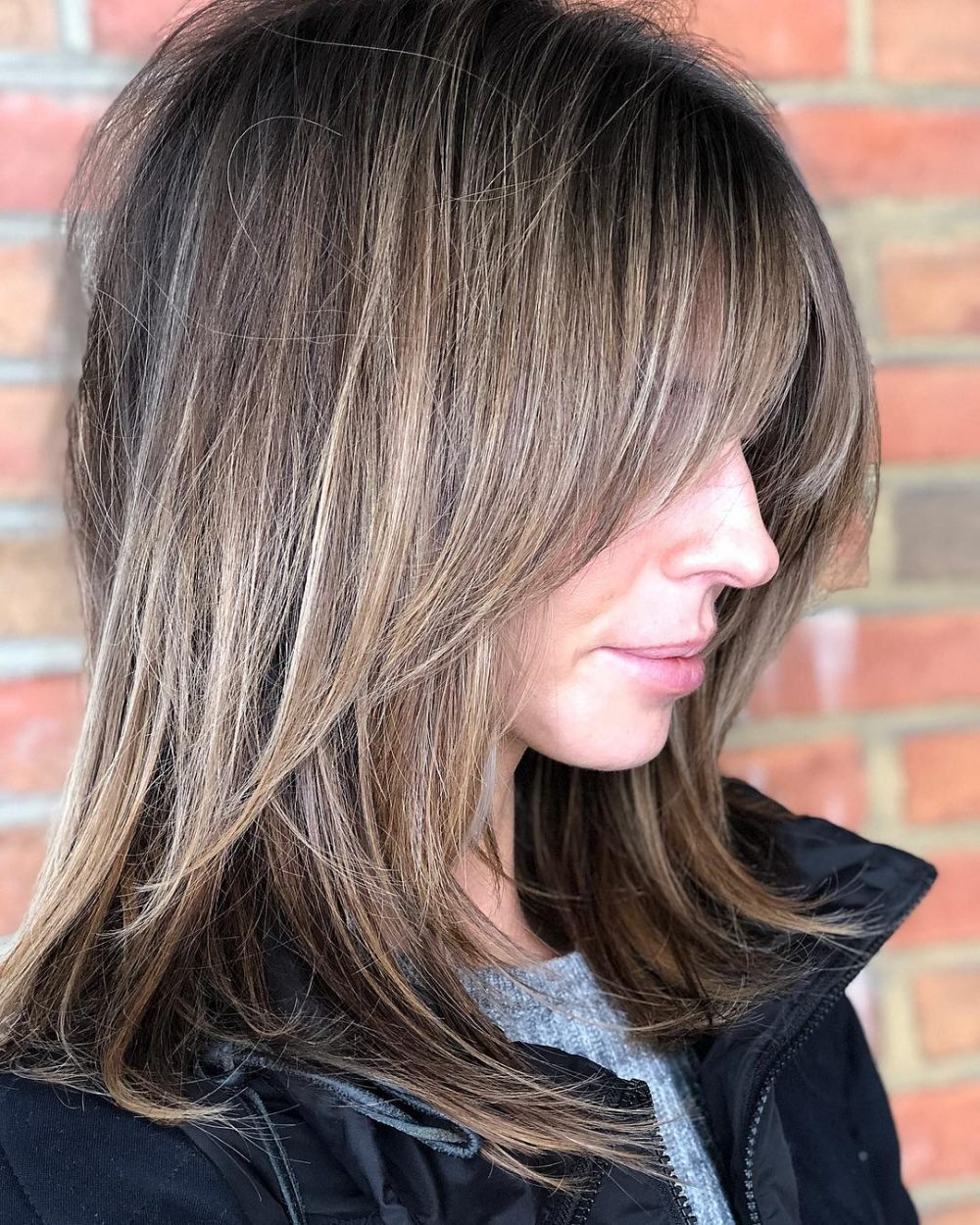 53 Popular Medium Length Hairstyles With Bangs (Updated For 2018) Regarding Wavy Bronde Bob Shag Haircuts (View 10 of 20)