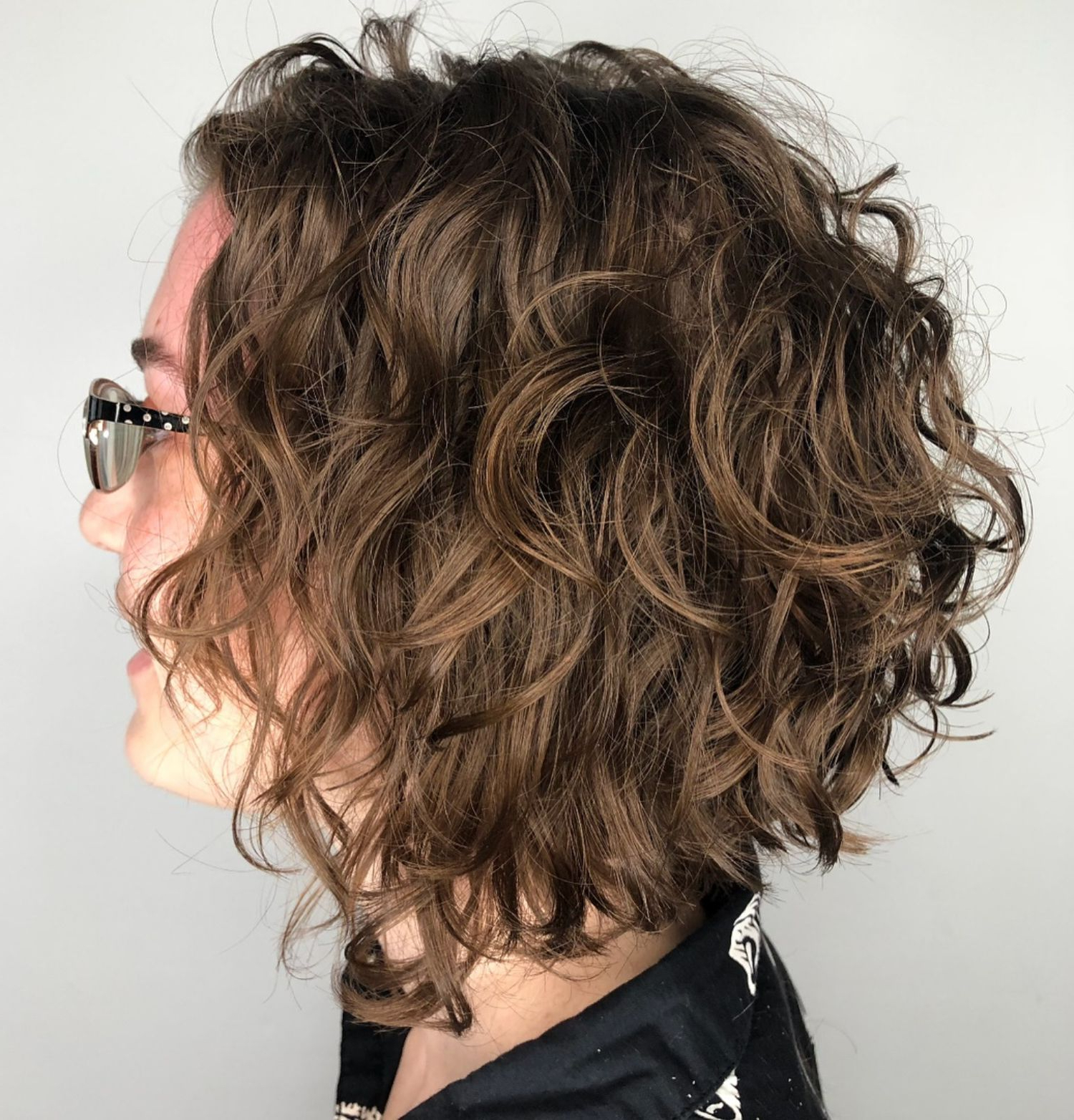 55 Different Versions Of Curly Bob Hairstyle | Fun | Pinterest For Scrunched Curly Brunette Bob Hairstyles (View 9 of 20)