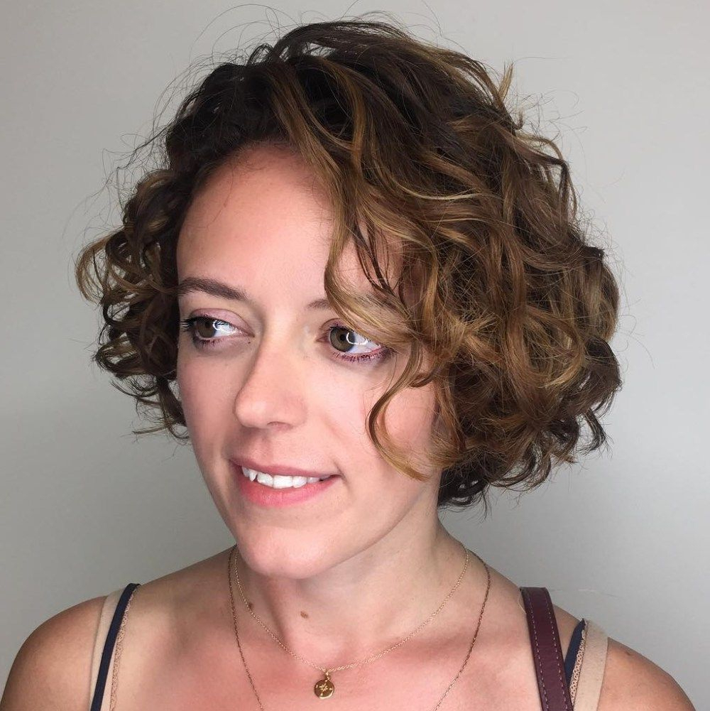 55 Different Versions Of Curly Bob Hairstyle In 2018 | Perms For Throughout Short Messy Curly Hairstyles (View 9 of 20)