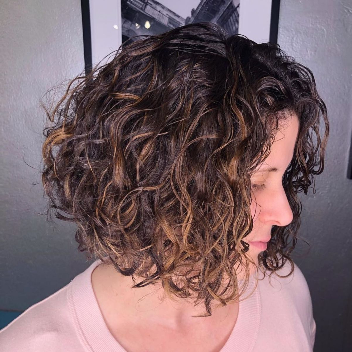 55 Different Versions Of Curly Bob Hairstyle | Me | Pinterest Throughout Short Bob Hairstyles With Whipped Curls And Babylights (View 7 of 20)