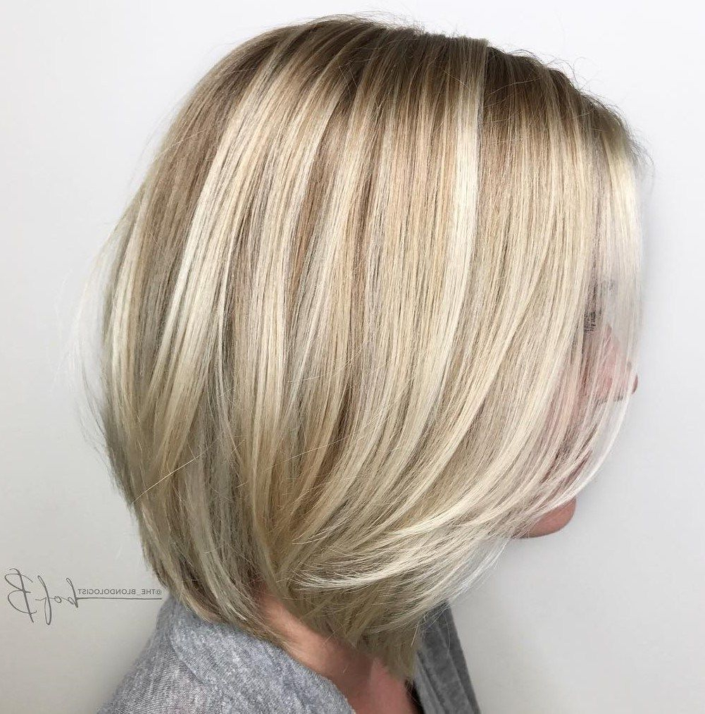 60 Beautiful And Convenient Medium Bob Hairstyles | Hair | Pinterest With Silver Balayage Bob Haircuts With Swoopy Layers (View 2 of 20)