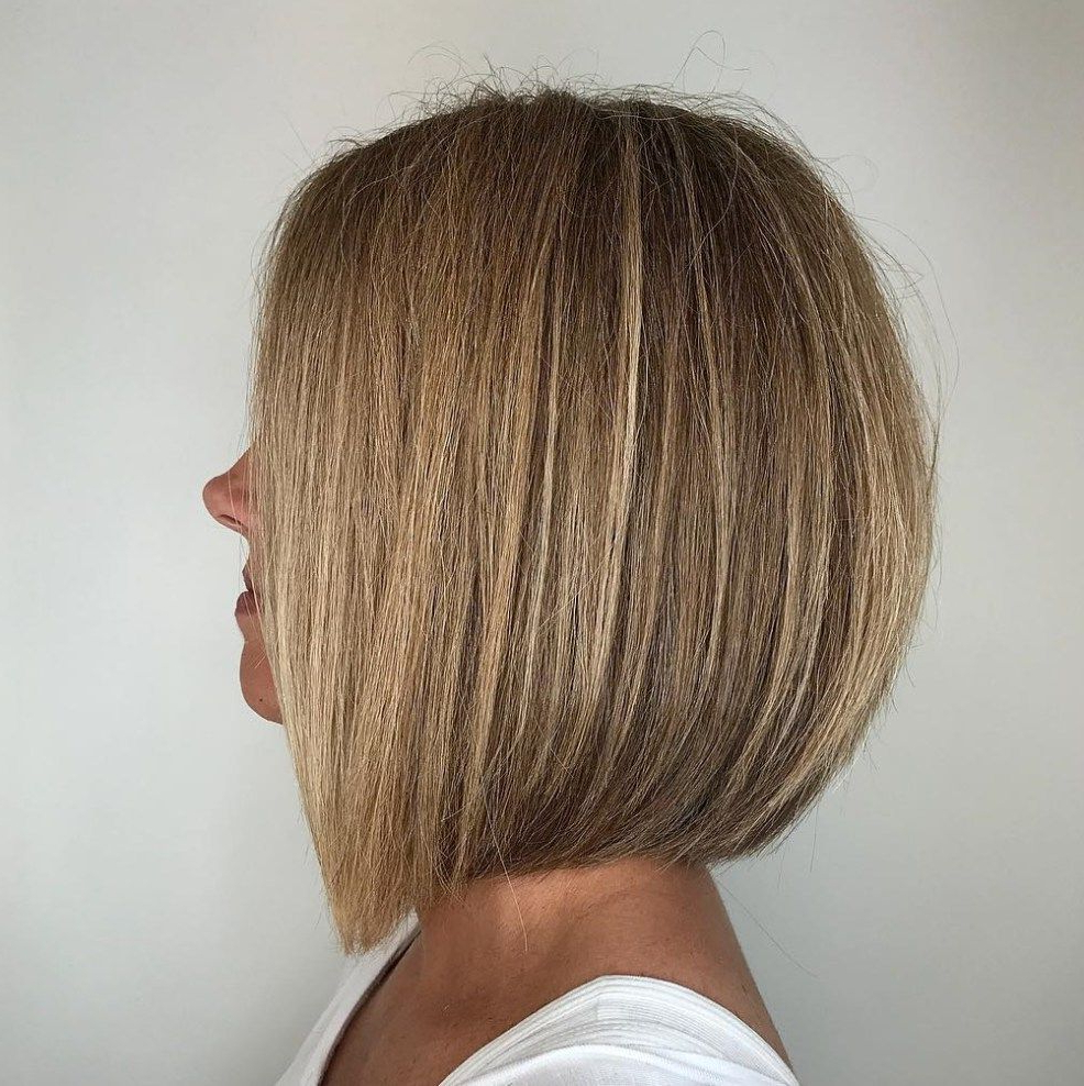 60 Beautiful And Convenient Medium Bob Hairstyles In 2018 | Haircut For Stunning Poker Straight Bob Hairstyles (View 10 of 20)