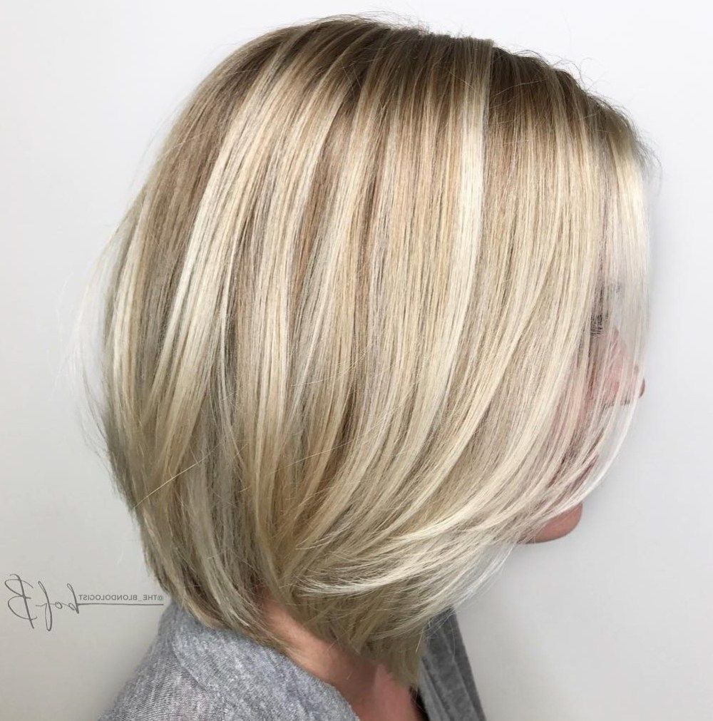 60 Beautiful And Convenient Medium Bob Hairstyles In 2018 | Layered Pertaining To Layered Balayage Bob Hairstyles (View 9 of 20)