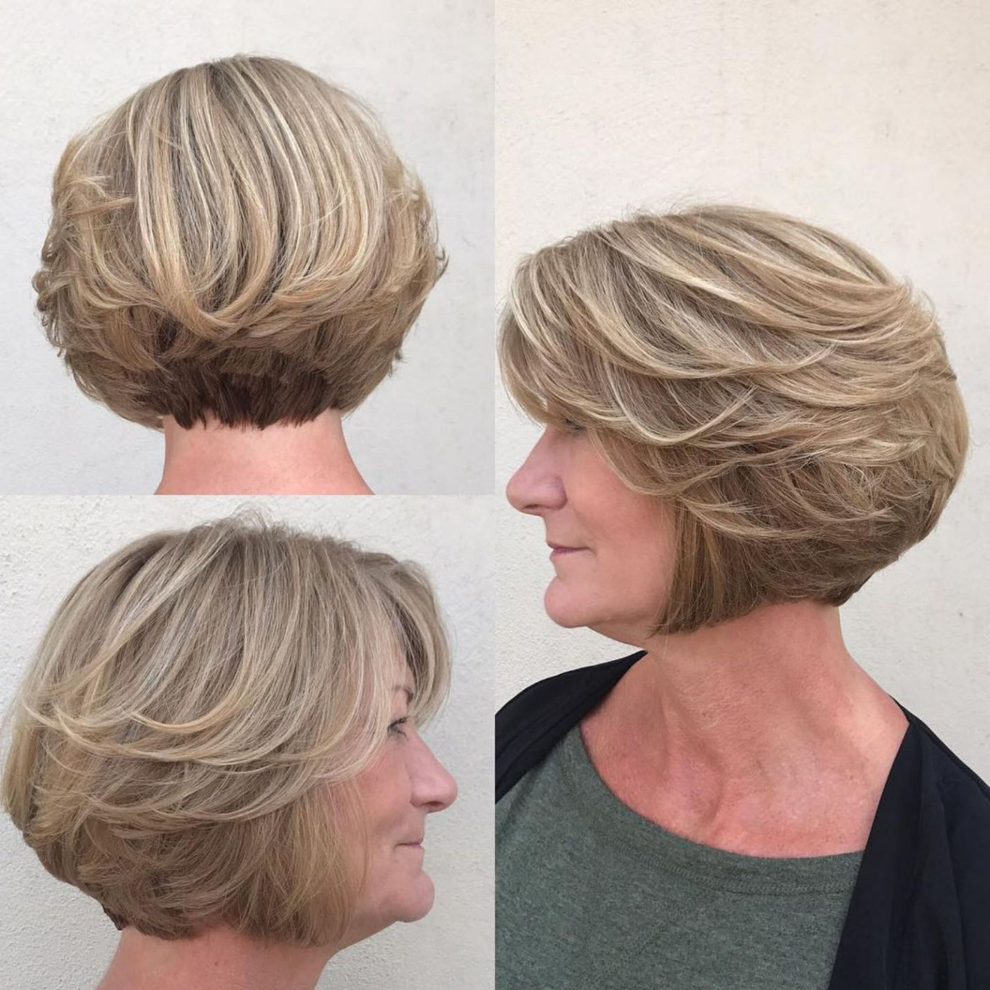 60 Best Hairstyles And Haircuts For Women Over 60 To Suit Any Taste In Ash Blonde Bob Hairstyles With Feathered Layers (View 13 of 20)