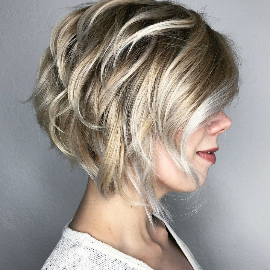 60 Best Short Bob Haircuts And Hairstyles For Women | Cabellos With Regard To Silver Balayage Bob Haircuts With Swoopy Layers (View 14 of 20)