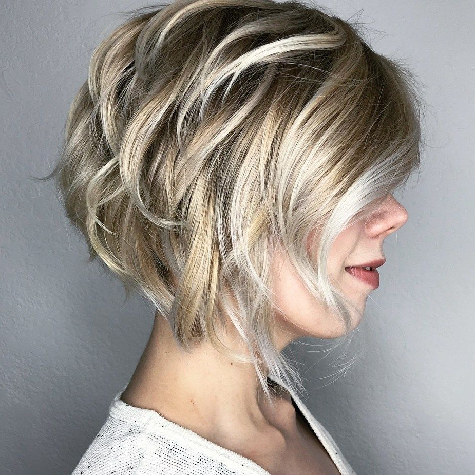 60 Best Short Bob Haircuts And Hairstyles For Women | Hair Within Short Bob Hairstyles With Piece Y Layers And Babylights (View 7 of 20)