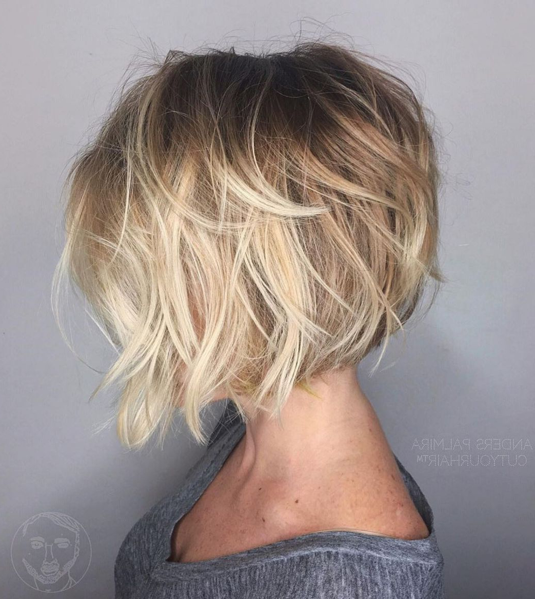 60 Best Short Bob Haircuts And Hairstyles For Women In 2018 | Hair For Choppy Wispy Blonde Balayage Bob Hairstyles (View 5 of 20)